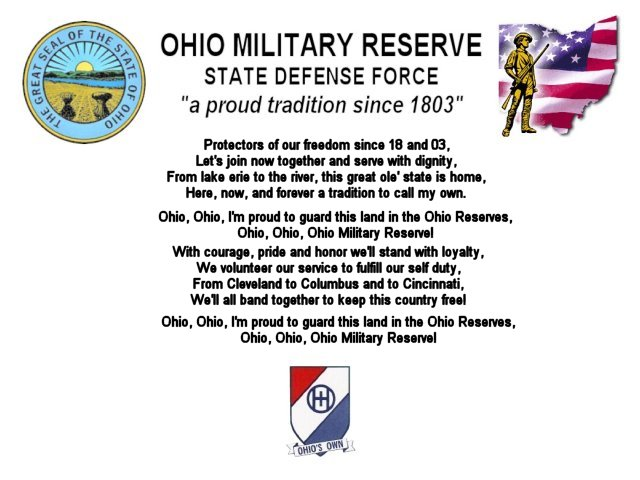 Ohio military reserve march written by: