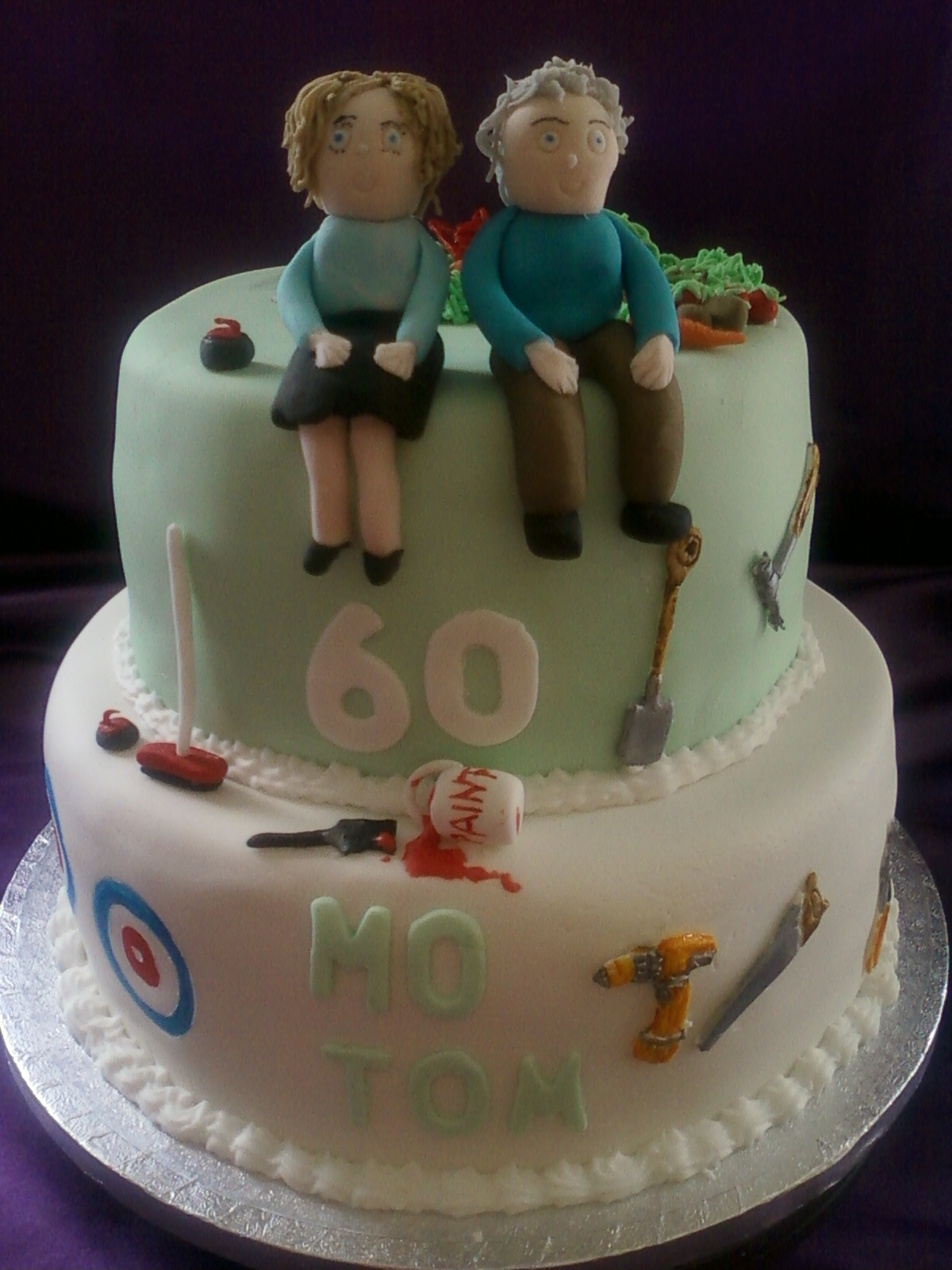 Joint Birthday Cake Images : Joint 60th 2tier cake Gluten Free birthday cake