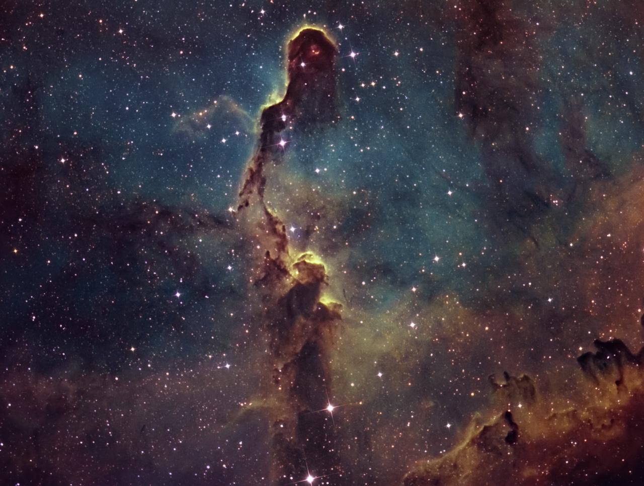 Ic - 1396 : The Elephant Trunk Nebula (hubble Palette)