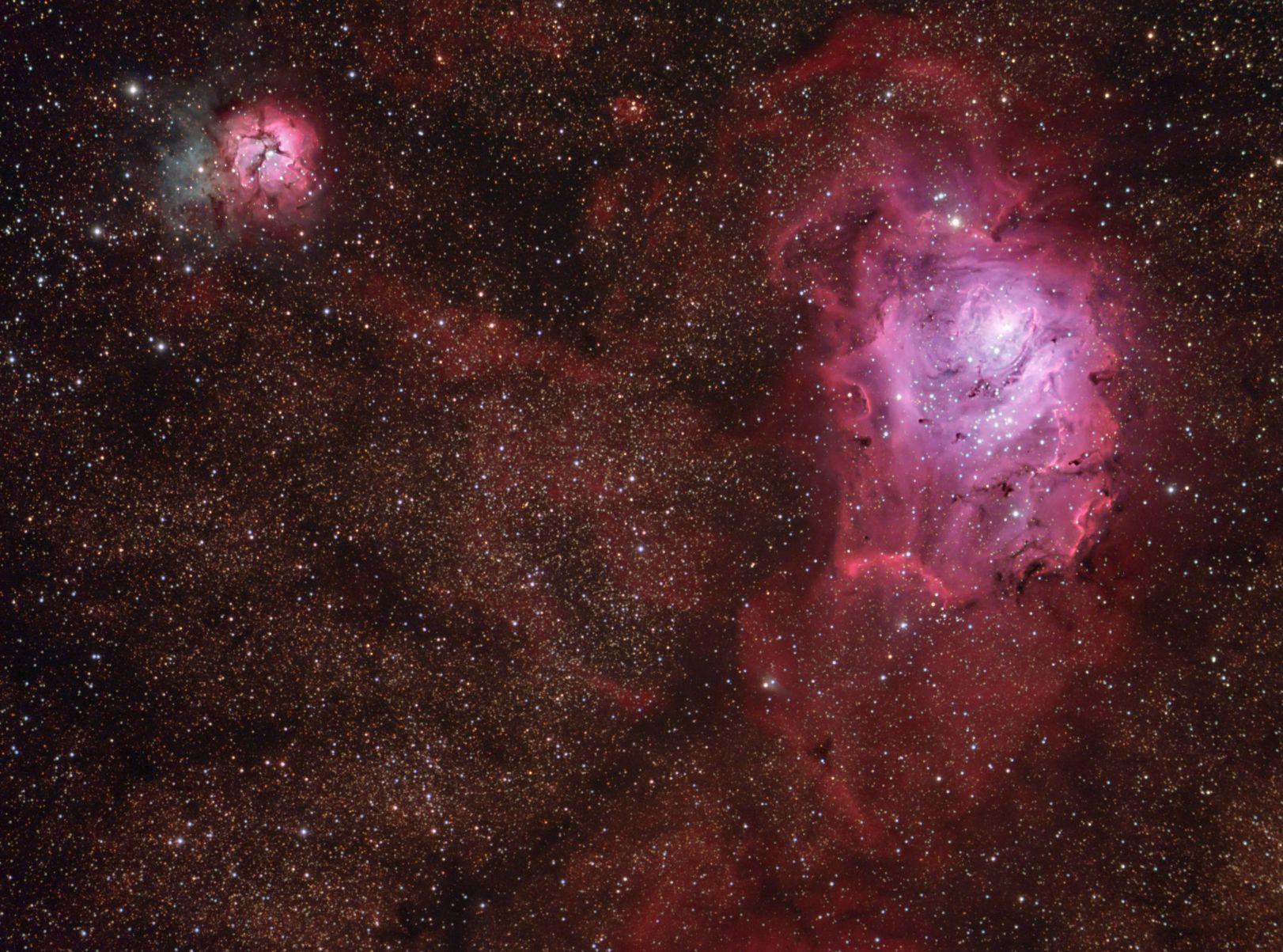trifid and lagoon nebula - photo #31