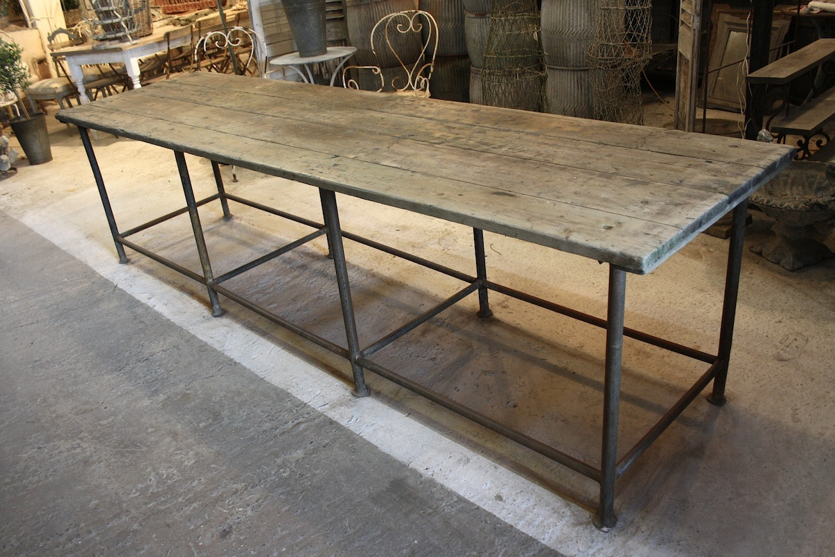 SOLD 18220 Long Industrial Table SOLD : 22020Long20Industrial20Table from atelierdecampagne.webs.com size 1205 x 804 jpeg 374kB