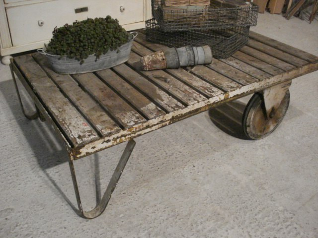 Vintage Industrial Factory Cart Coffee Table | Vintage, Industrial and Of - Vintage Industrial Factory Cart Coffee Table Vintage, Industrial