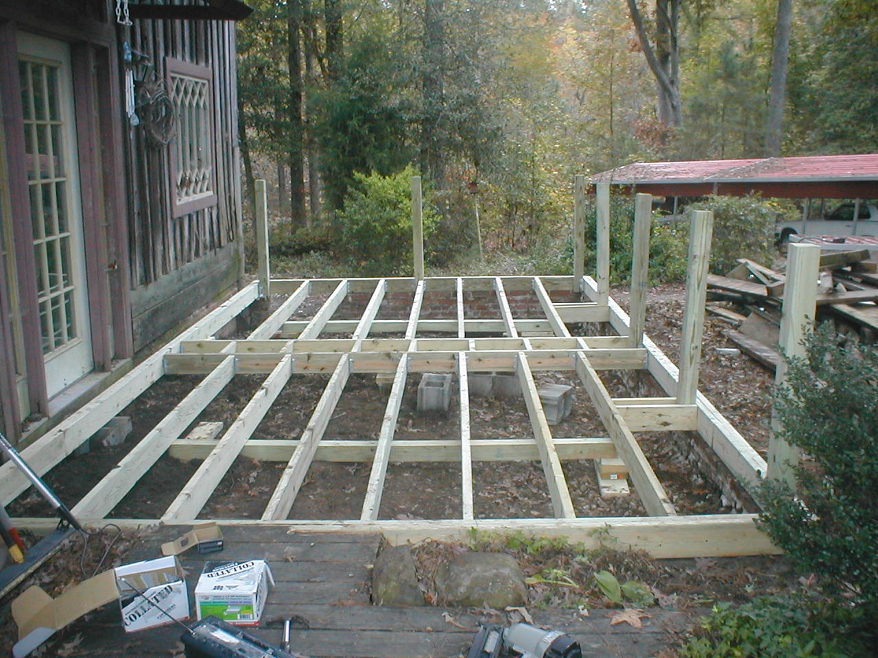 Framing A Deck On Posts : Deck framing with posts for railing a z home repair