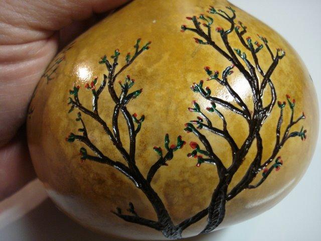 Bush gourd decoration