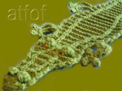 Alligator applique - Crochet A Trunk-Full O Fun!