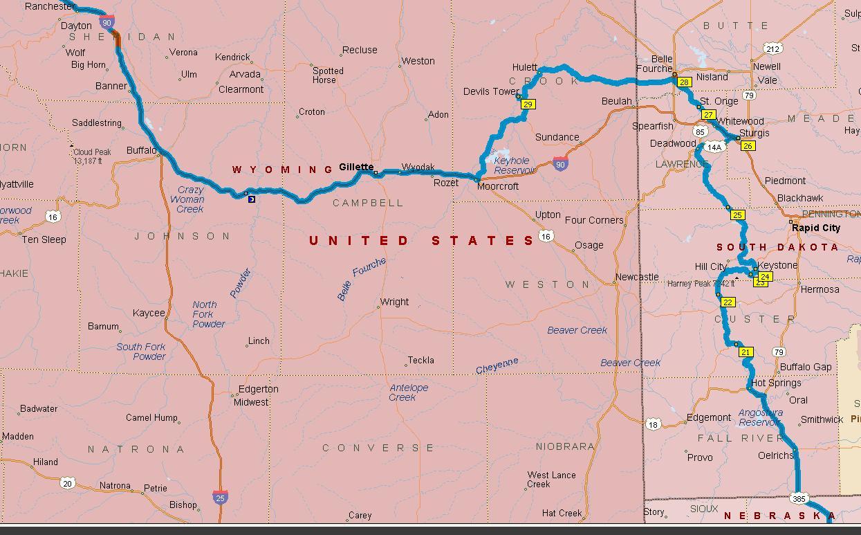 Similiar Dakota And Wyoming Map Of S Keywords