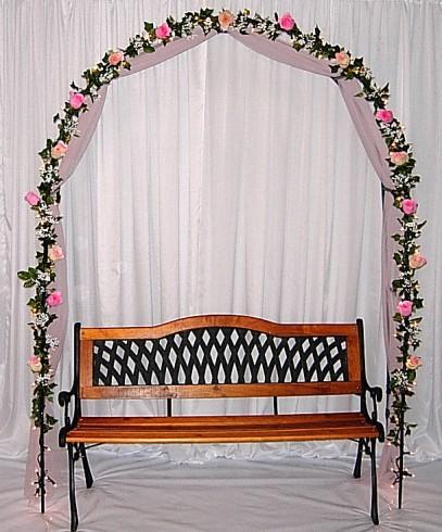 Ideas para decorar fiesta de boda muestras de arcos de flores Ideas para decorar un arco de boda