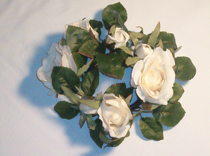 Silk flower candle rings image antique and candle victimassist silk flower candle rings image antique and victimist mightylinksfo