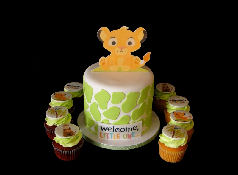 pin lion king themed baby shower cake by gen cakesdecorcom cake on