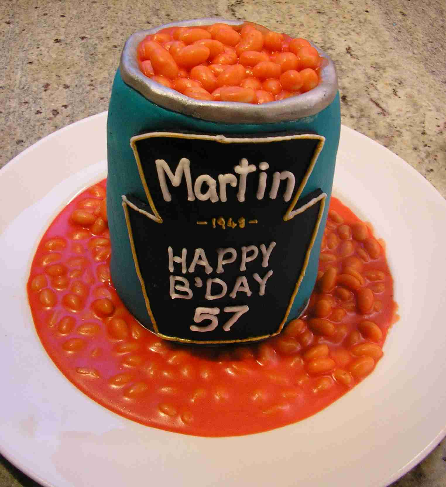 Baked Beans Birthday Cake