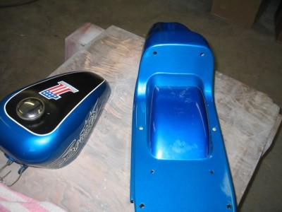 1970 boattail sportster XLH Hi-Fi Blue.