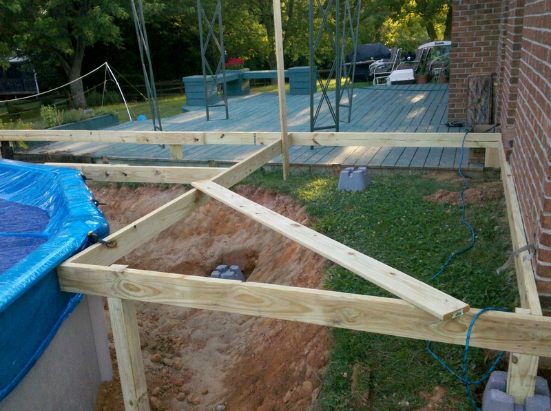 Deck around above ground pool - Above ground pool steps diy ...