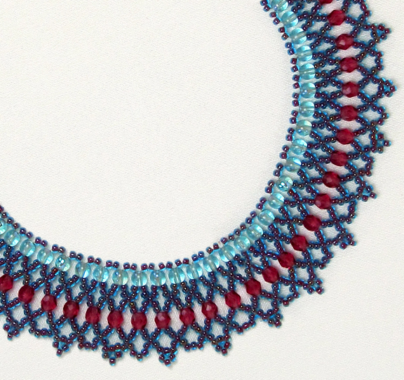 Beaded Crystal Net Necklace - Free pattern