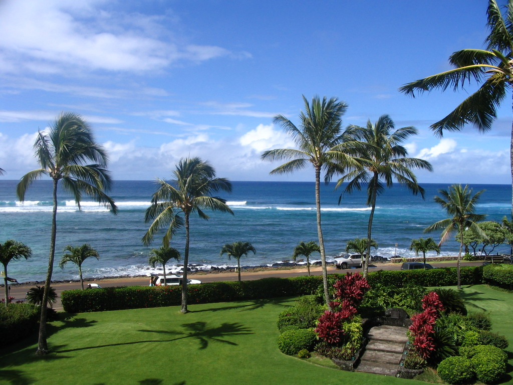 Beautiful Ocean Views kauai ocean front rental - denise's travel pages