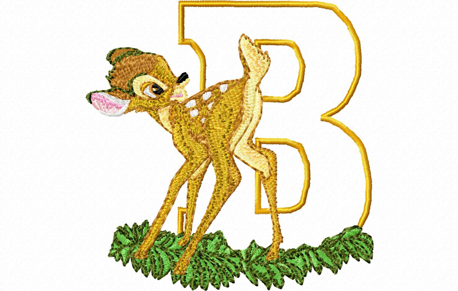 Bambi letter B 10 x 10 title=