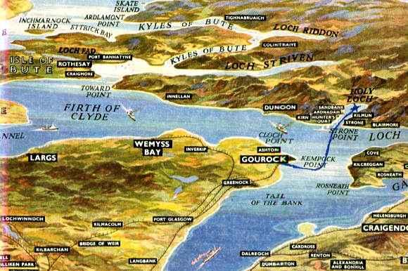 Holy Loch Scotland Map.Holy Loch Scotland Uss Casimir Pulaski Ssbn 633