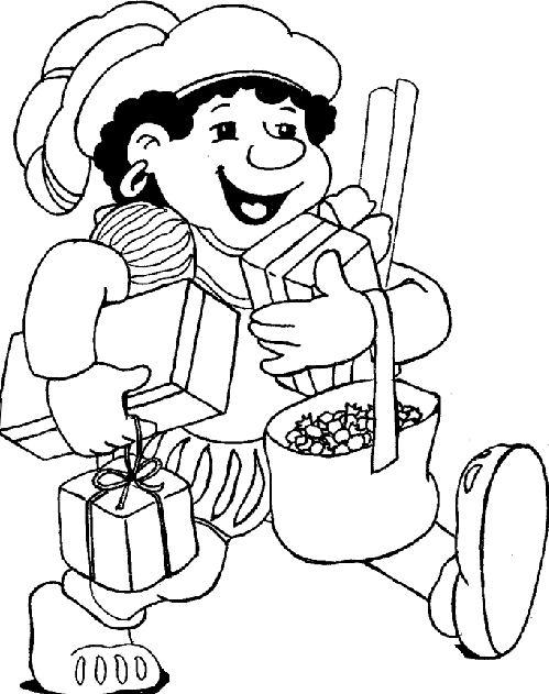 Snoep Sinterklaas Kleurplaat Sinterklaas Abc Webart