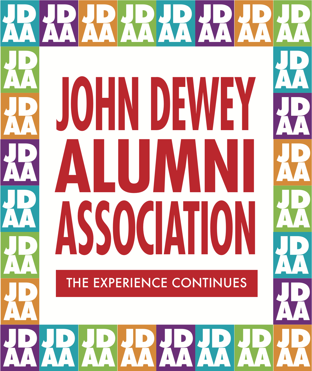 The John Dewey Alumni Association Logo
