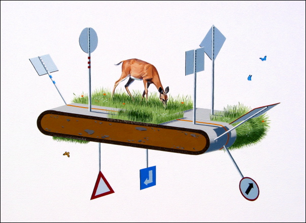Treadmill by Josh Keyes