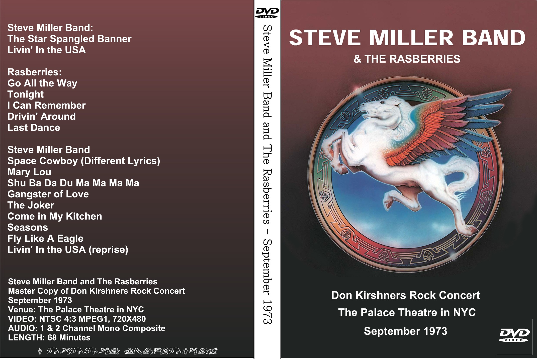 Steve Miller Band and The Raspberries - Don Kirshner's Rock Concert (1973) DVD Full Show