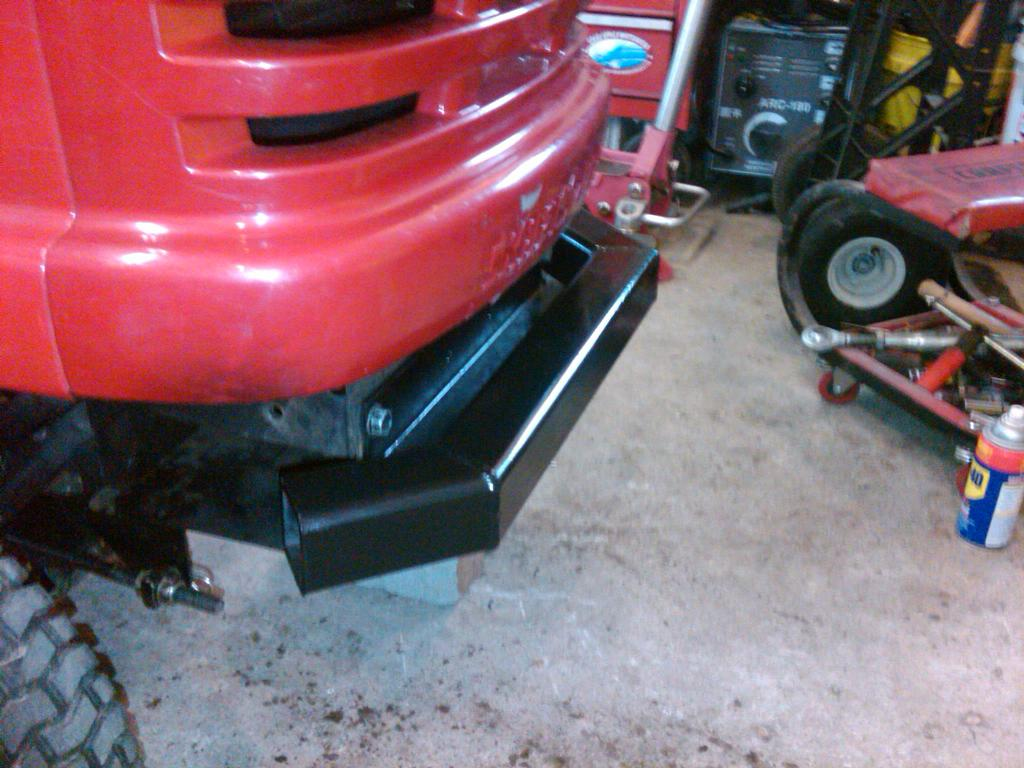 Homemade Tractor Bumper : Homemade sleeve hitch for re powered craftsman dyt awesome mytractorforum the