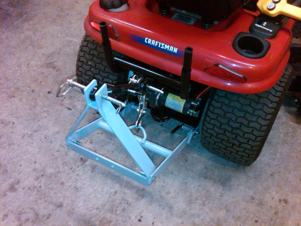 Craftsman Dyt 4000 Accessories : Homemade sleeve hitch for re powered craftsman dyt