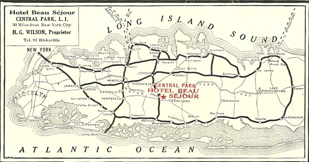Scan on Lake George Island Map