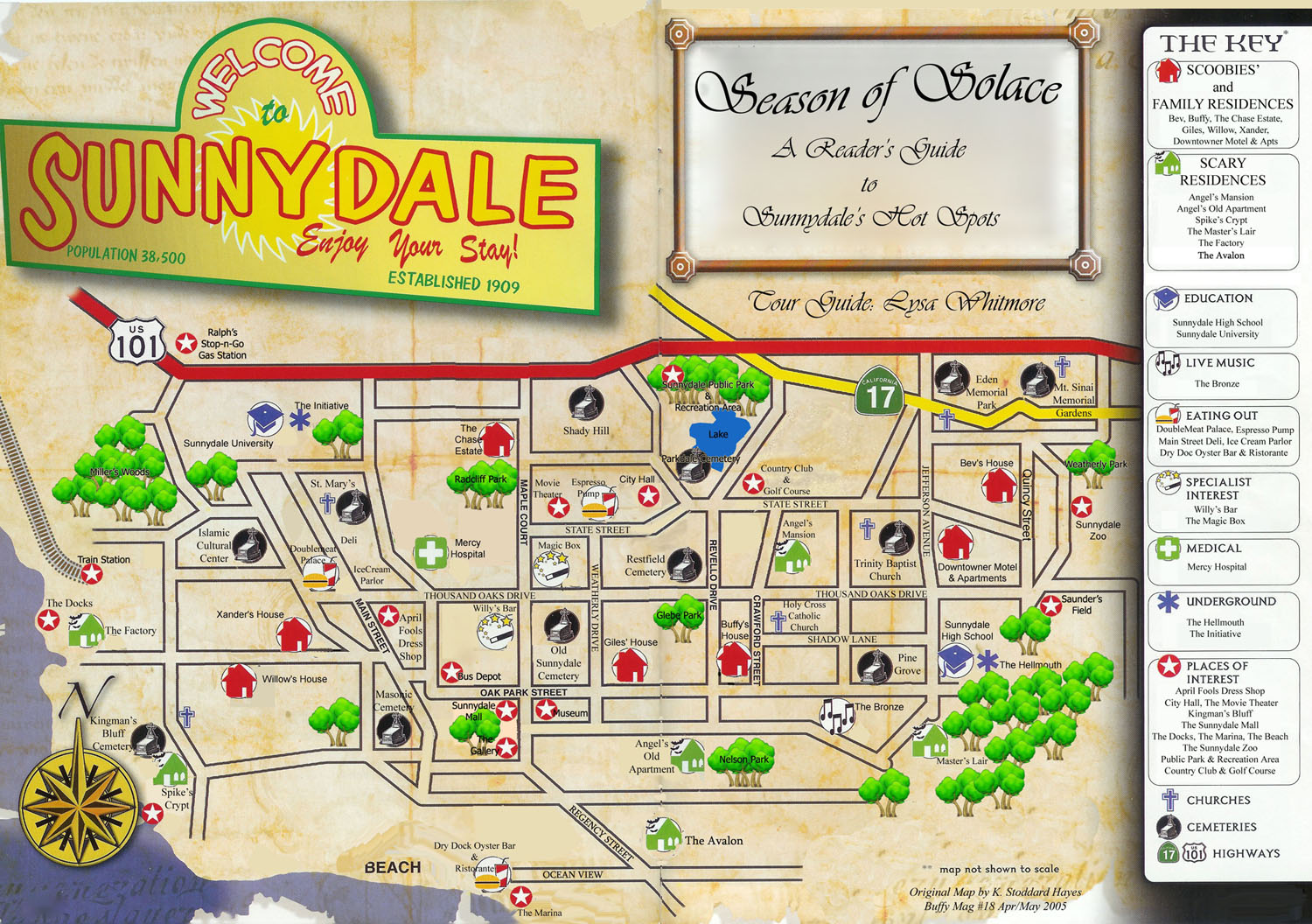 Anyone have a to scale map of Sunnydale? It seems like the gang