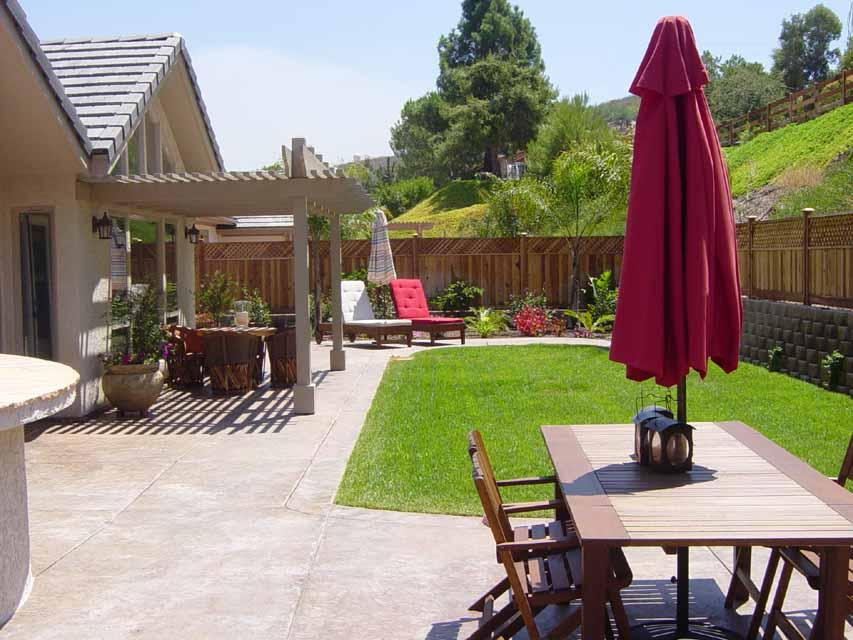 Back yard design mk landscape design for Sample backyard designs