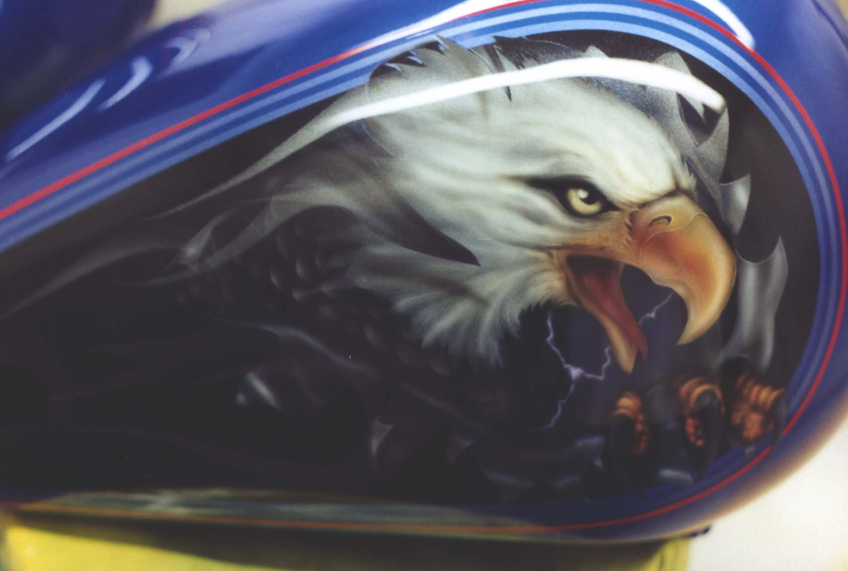 Chicago custom motorcycle painting and airbrushing for Airbrushed mural