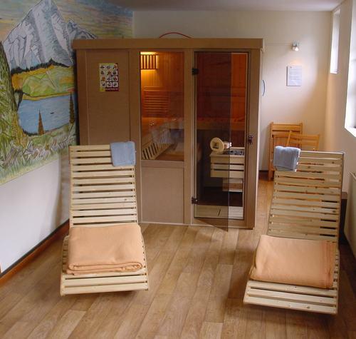 Sauna in de eifel vakantiehuis in monschau voor 10 personen - Ligstoelen en merisier ...