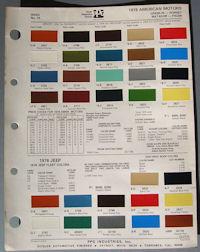 Jeep interior color codes
