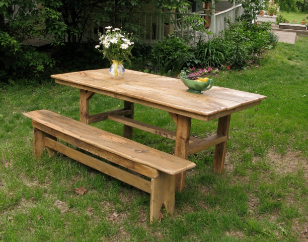 Outstanding Farm Table with Bench 612 x 480 · 291 kB · jpeg