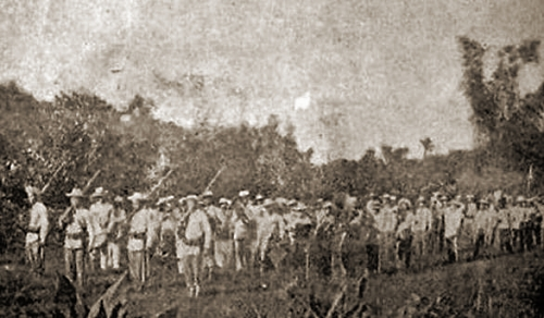 """philippine republic and bandoleros Prominent among the 'bandoleros"""" or the outlawed guerillas of the philippine-american war of 1903-1907 was macario leon sakay who was born in tondo, manila in 1870 of obscure parentage and out of wedlock, who continued the ideals of magdiwang of the true katipunan."""