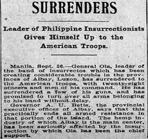 The Last Holdouts - Philippine-American War, 1899-1902