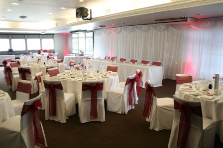 Chair covers at Aston Hall Hotel, Sheffield