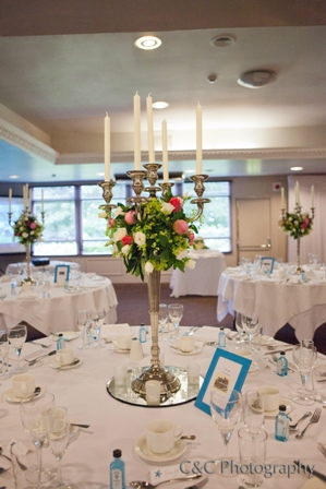 Aston Hall Hotel wedding candelabra