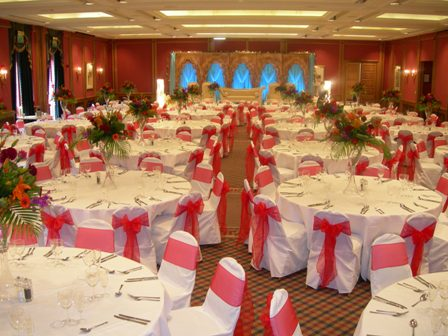 Oulton Hall wedding chair covers