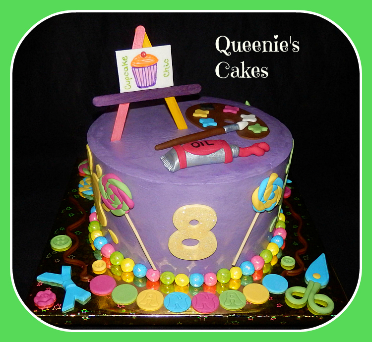 Cake Art Craft : Art & craft themed cake - Queenie s Cakes