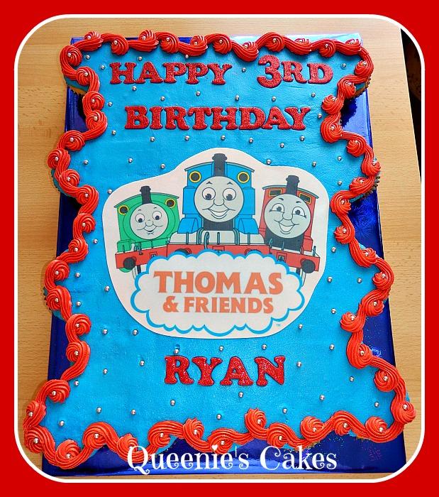 Photo Cake Images Edible : Thomas cupcake cake - edible image - Queenie s Cakes