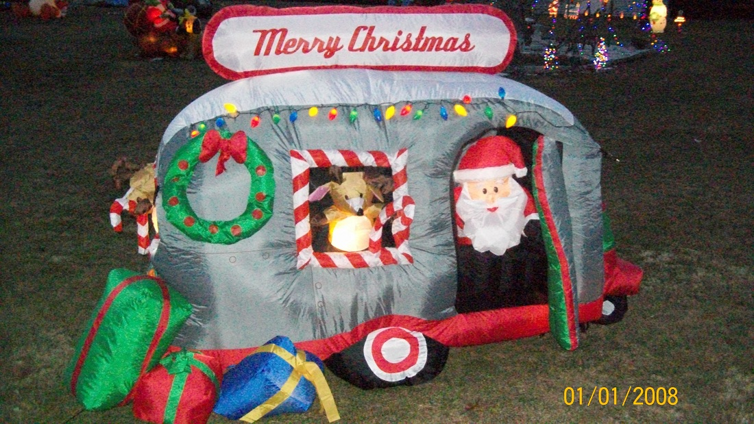 Santa camper inflatable