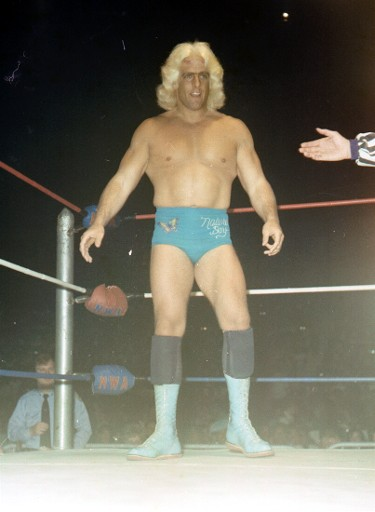 Ric Flair as US champion in 1980