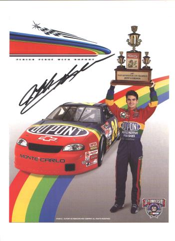 Jeff Gordon with Trophy