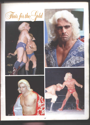 Ric Flair getting ready for starrcade 83 and a Flair for the gold