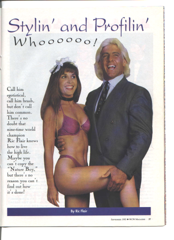 Ric Flair is stylin and profilin with diva fifi