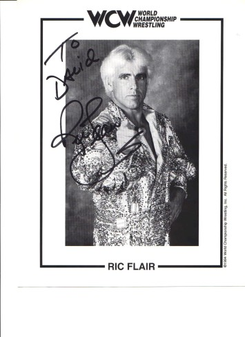 Ric Flair autographed picture