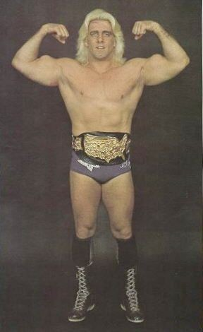 Ric Flair in 1980 as US champion