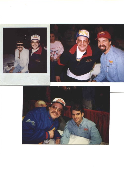 Here i am with Jeff Gordon and The King Richard Petty and his son Kyle
