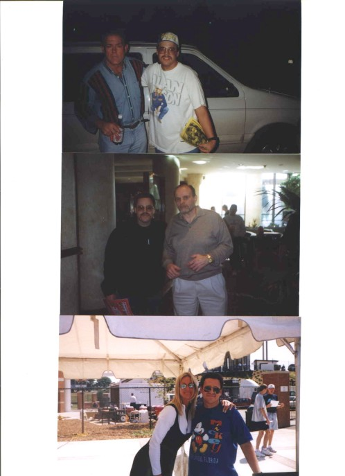 Me with Tully Blanchard and Ole Anderson and Madusa