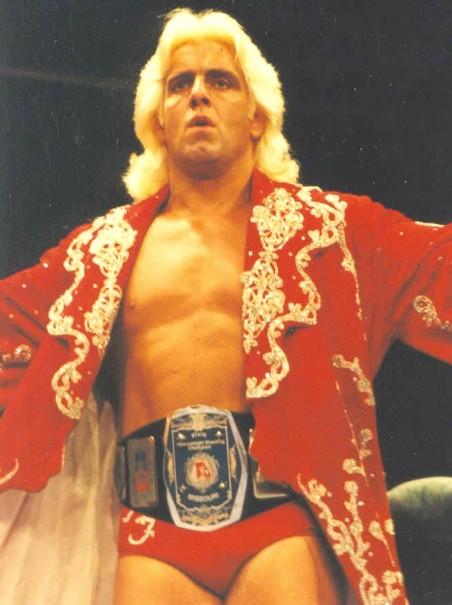 Ric Flair as Missouri heavyweight wrestling champion
